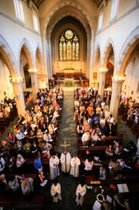 Congregation at St James Church