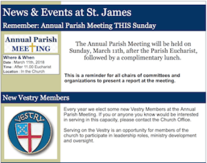St James Electronic Newsletter
