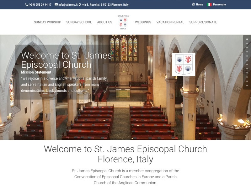St. James Episcopal Church, Florence, Italy - an American Church